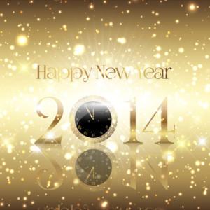 Golden Happy New Year background