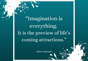 Albert Einstein Inspirational Quote Instagram Post